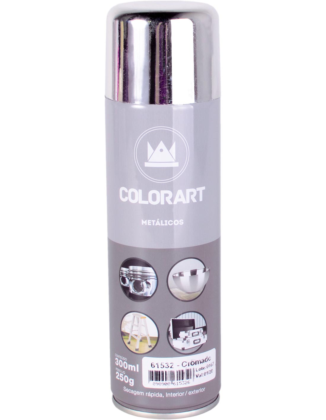Tinta Spray Cromada Ouro Bronze Colorart Tropikanas 300ml