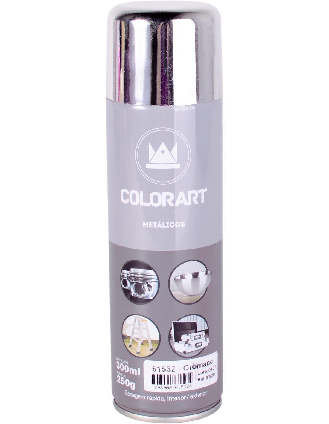 Tinta Spray Cromada Ouro Bronze Colorart 300ml
