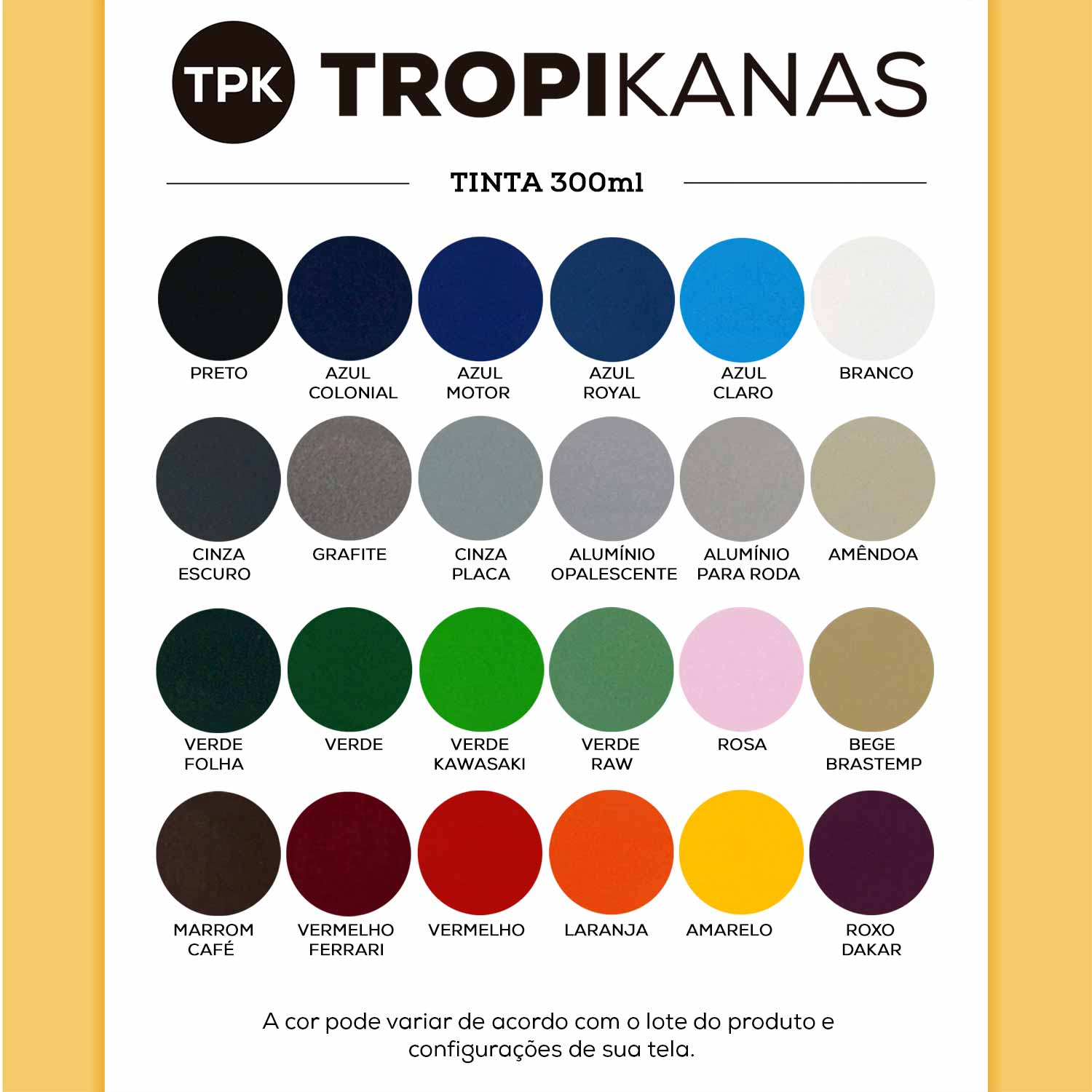 Tinta Spray Uso Geral Colorart Tropikanas 300ml