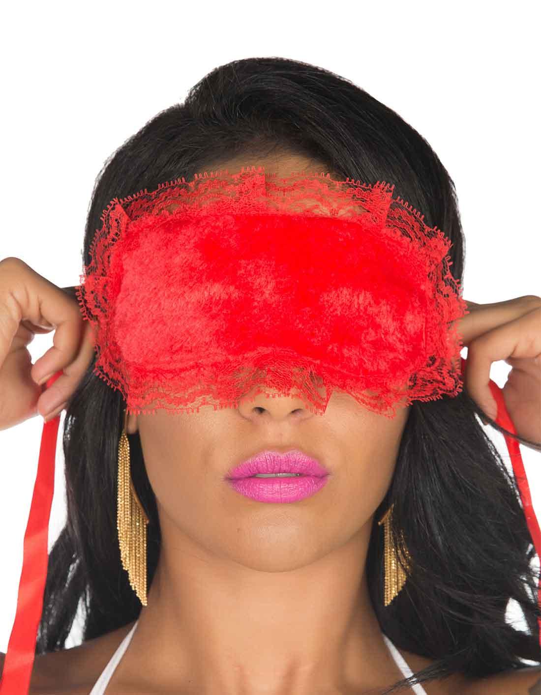 Venda para Olhos Vermelha Tropikanas
