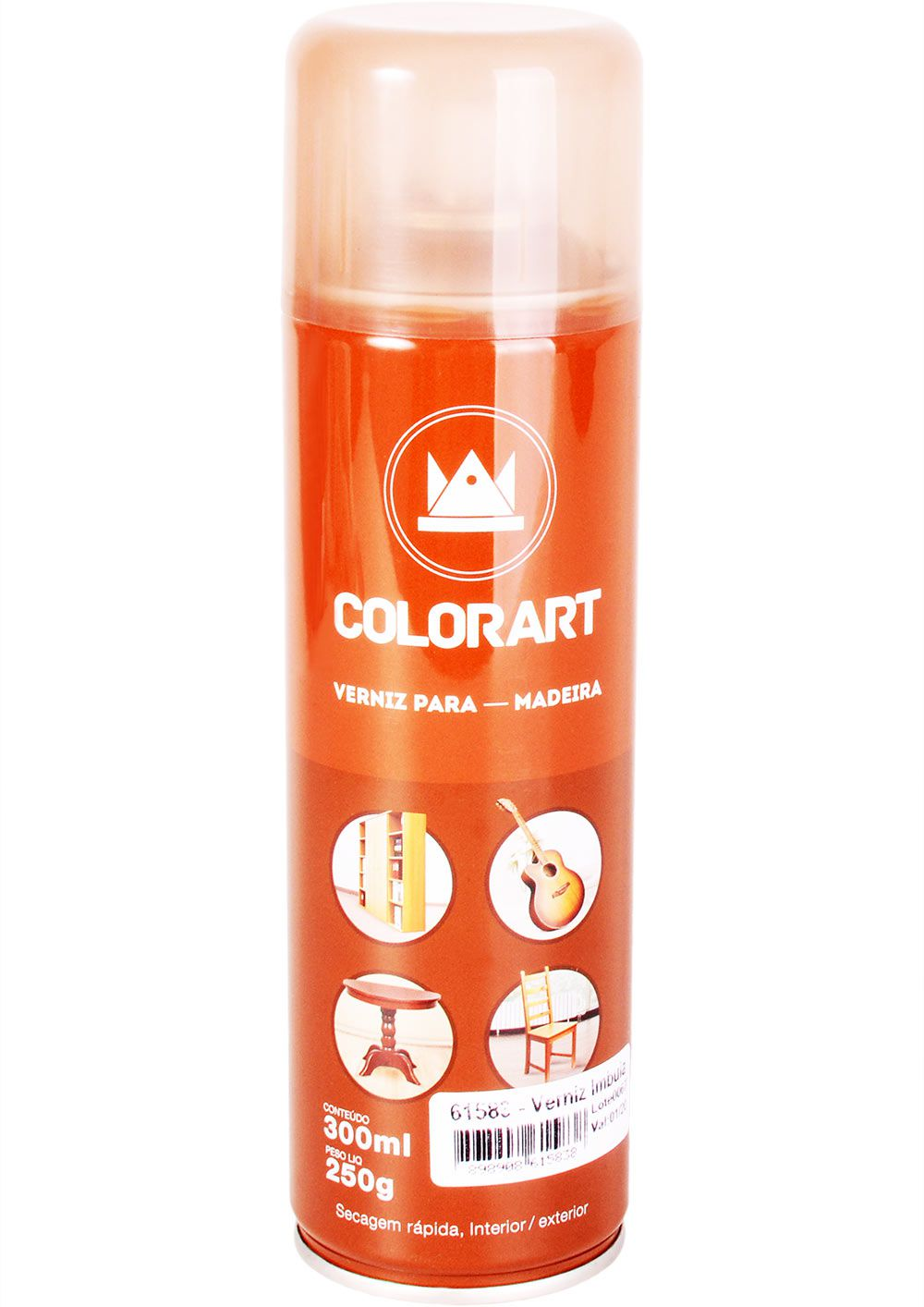 Verniz para Madeira Spray Colorart 300ml