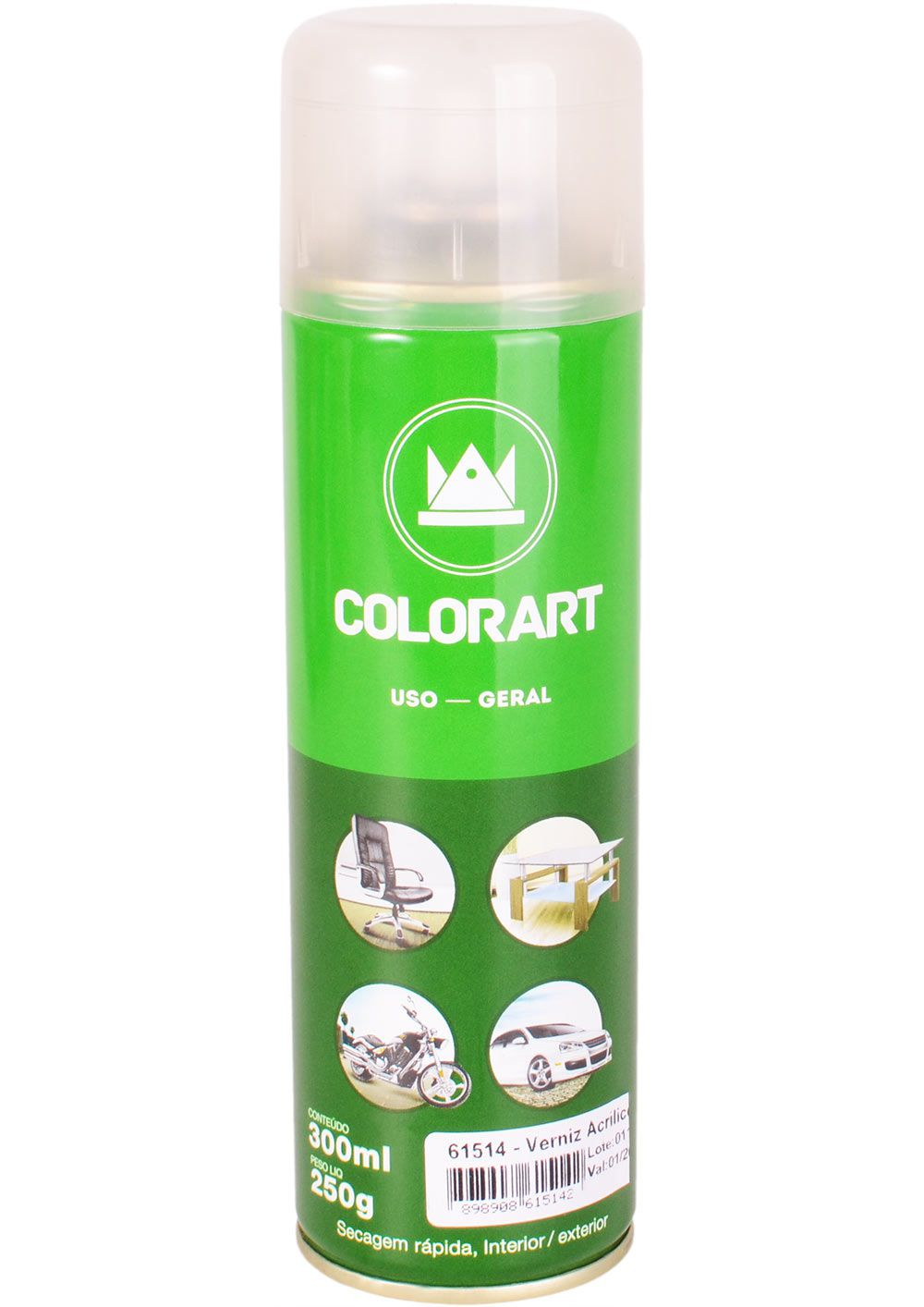 Verniz Spray Uso Geral Colorart Tropikanas 300ml