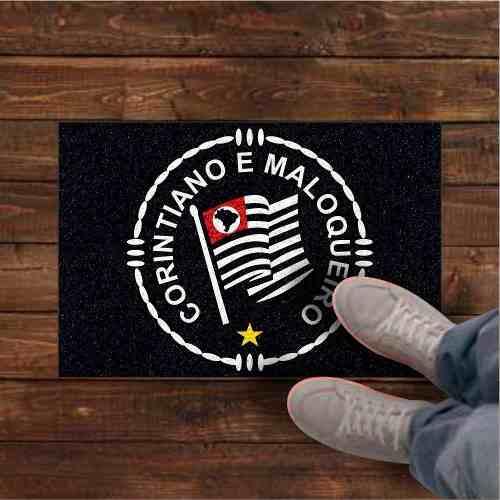 Capacho Tapete Corintiano e Maloqueiro Corinthians 60x40  - Zap Tapetes e Capachos Personalizados