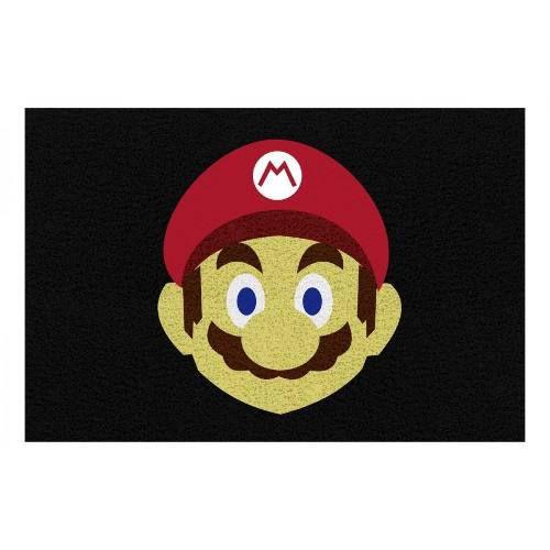 Tapete Mário Bros Face 60x40cm  - Zap Tapetes e Capachos Personalizados