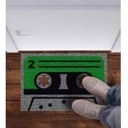 Tapete capacho Fita Cassete Retro 60x40cm