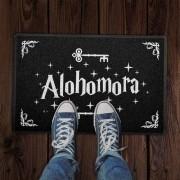 Capacho 60x40cm ALOHOMORA Harry Potter - Preto