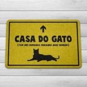 Capacho Ecológico Casa Do Gato 60X40 CM