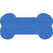 Capacho Formato Osso para Pet Shop | Azul Marítimo