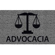Capacho Personalizado Advocacia (B)   Prata