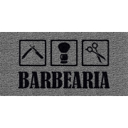 Capacho Personalizado Barbearia I | Prata