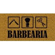 Capacho Personalizado Barbearia I | Ouro