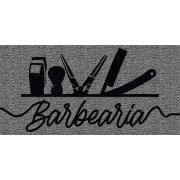 Capacho Personalizado Barbearia II | Prata