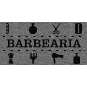 Capacho Personalizado Barbearia III | Prata