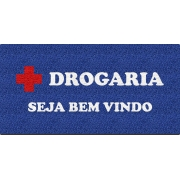 Capacho Personalizado para Drogarias   Azul Royal