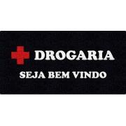 Capacho Personalizado para Drogarias   PRETO