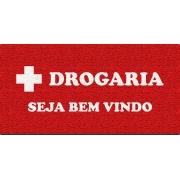 Capacho Personalizado para Drogarias | VERMELHO
