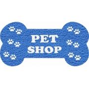 Capacho Personalizado para Pet Shop   Azul Marítimo