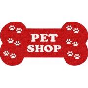 Capacho Personalizado para Pet Shop   Vermelho