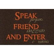 Capacho Senhor dos Anéis Speak Friend and Enter 60x40 cm
