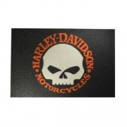 Capacho Tapete 60x40cm - Harley Davidson