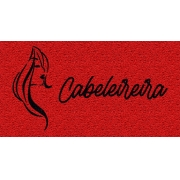Capacho Personalizado Cabeleireira | Vermelho