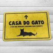 Tapete Capacho Casa do Gato 60x40 cm - Amarelo