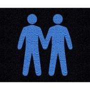 Tapete capacho casal masculino LGBT 60x40cm