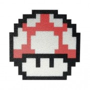 Tapete Capacho Cogumelo Mario Bros Verm 60x50 Cm