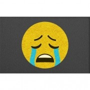 Tapete Capacho Emoji Chorando 60x40 cm