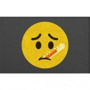 Tapete Capacho Emoji Doente 60x40cm