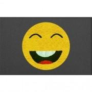 Tapete Capacho Emoji Sorrindo 60x40cm
