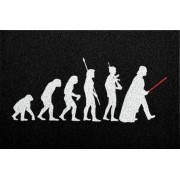 Tapete Capacho Evolução Sapiens 60x40 cm - preto.