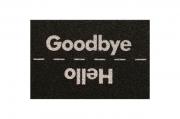 Tapete capacho Hello Goodbye 60x40 cm