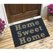 Tapete Capacho Home Sweet Home 60x40 cm Preto