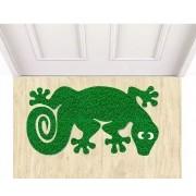 Tapete capacho lagartixa verde 60x40 cm