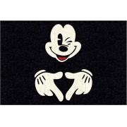 Tapete Capacho Mickey Doidão II 60x40 cm Preto