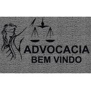 Capacho Personalizado Advocacia (T) | Prata