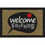 Tapete Capacho Personalizado - Welcome friends 60x40