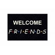 Tapete Capacho Personalizado - Welcome friends - Preto