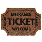 Tapete Capacho Ticket Welcome Bege 40x60cm