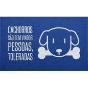 Tapete para Apartamento Cachorros São Bem Vindos 60x40 cm - Azul