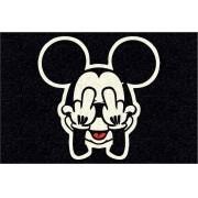 Tapete para Apartamento Mickey Doidão 60x40 cm Preto