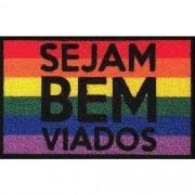 Tapete para apartamento Seja Bem Viados LGBT 60x40cm
