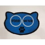 Tapete para Pet,  Food e Water 60x40 cm