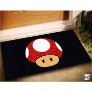 Tapete Para Porta De Apartamento Super Mario World 60x40cm cogumelo