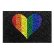 Tapete para Porta , Seja Bem Viados,  LGBT, Coração 60x40cm