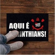 Tapete personalizado aqui é Corinthians! 60x40 cm