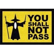 Tapete personalizado you shall not pass senhor das anéis 60x40cm