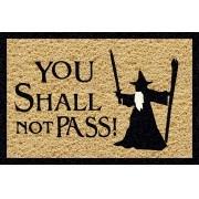 Tapete personalizado you shall not pass senhor das anéis 60x40cm bege