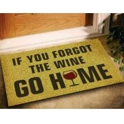 Tapete Se Você Esqueceu O Vinho, Vá Para Casa - Ouro 60x40cm